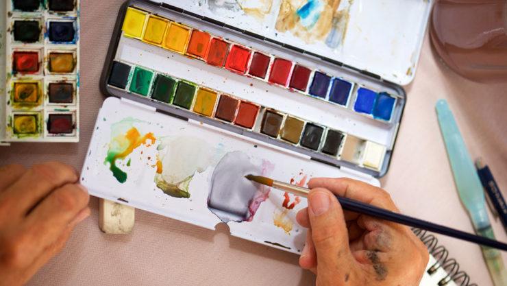 Obrazek z farbkami