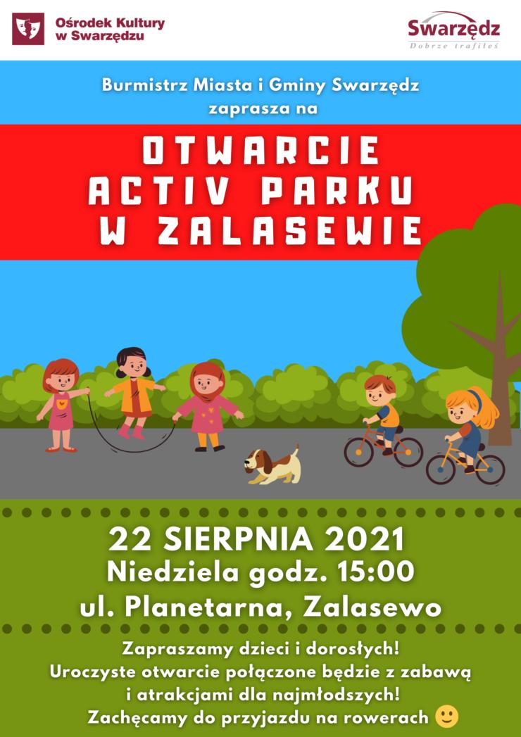 Plakat Otwarcie Activ Parku