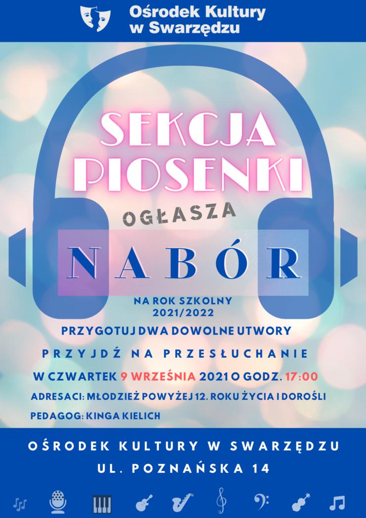 plakat sekcja piosenki