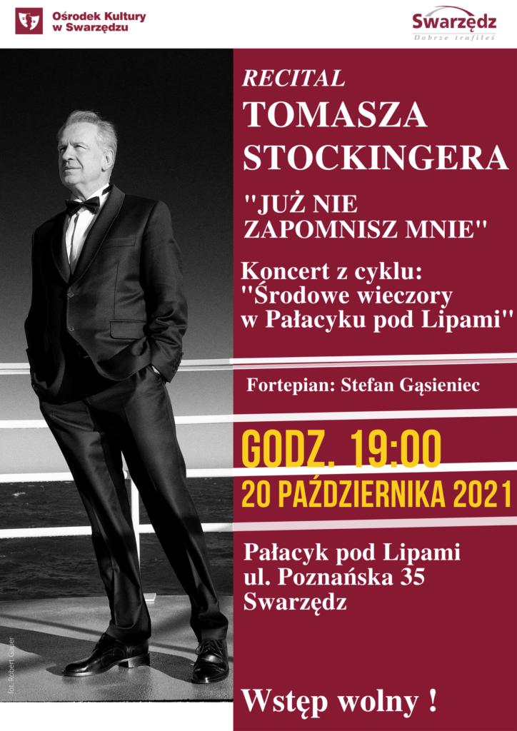 Plakat Tomasz Stockinger Recital